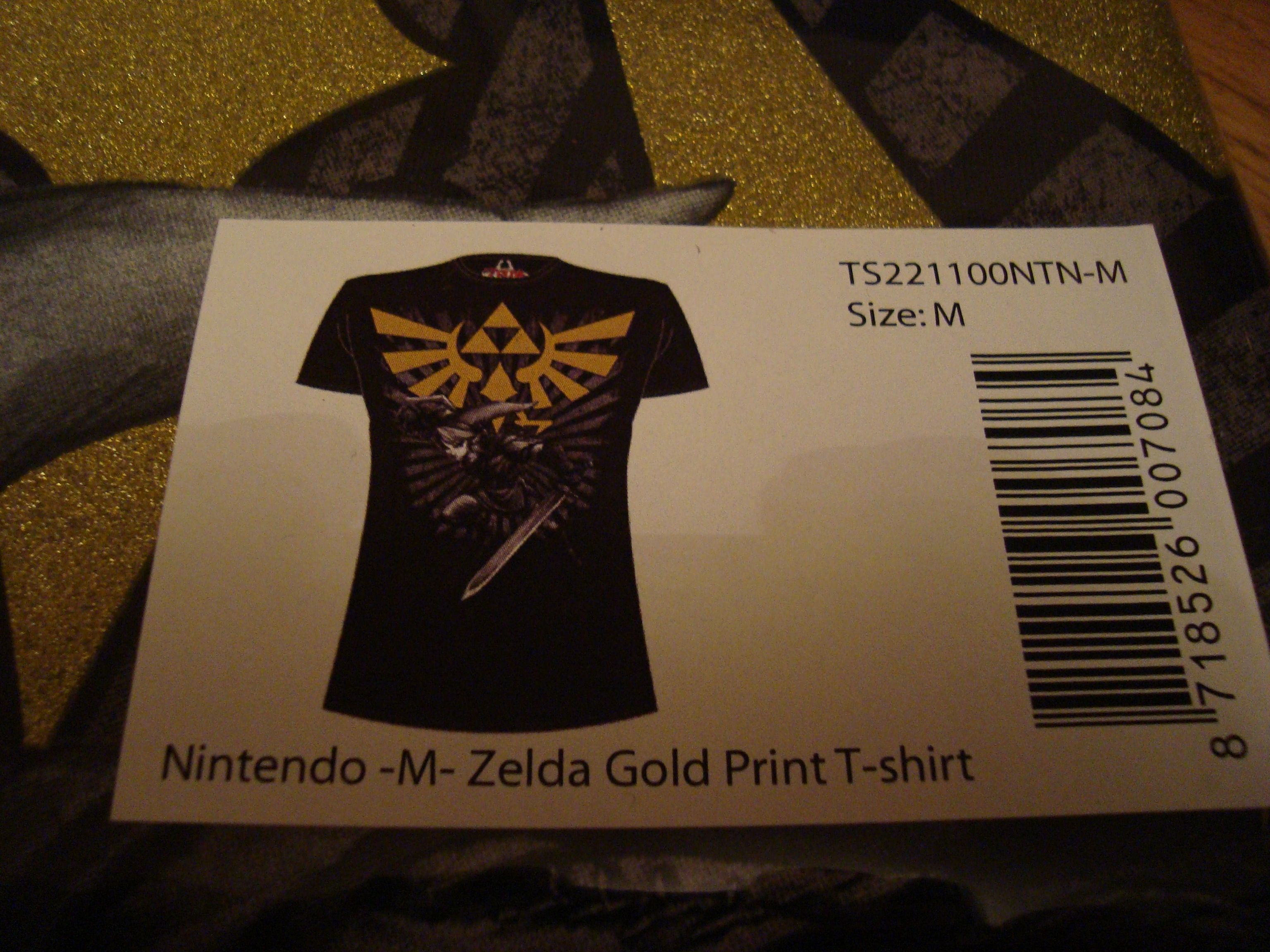 Zelda Gold Print T Shirt Lopobo Zelda Collection